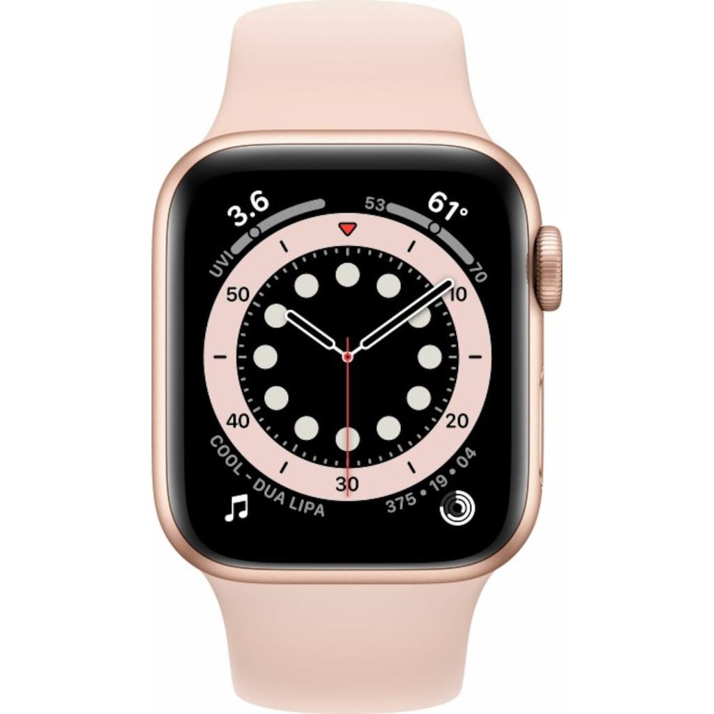 Apple Smartwatch »Apple Watch Series 6 GPS, Aluminium Gehäuse, 40 mm mit Sportarmband«,