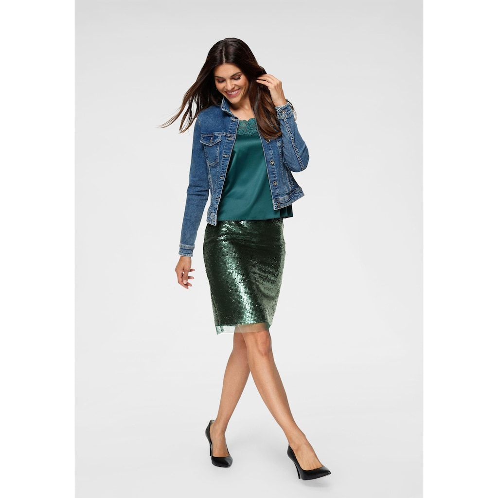Only Jeansjacke »TIA«, in leichter Used-Waschung mit Stretch