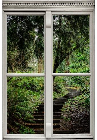 queence Wandsticker »Treppe im Wald« kaufen