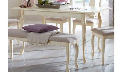 Home affaire Esstisch »Queen«, mit einer praktischen Auszugsfunktion, in 2 Grössen, mit edlen geschwungenen Beingestell kaufen