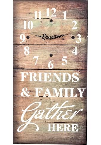 pajoma Wanduhr »Friends & Family« kaufen