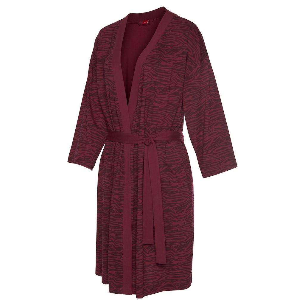 s.Oliver Bodywear Kimono, aus weich fliessendem Baumwollmix