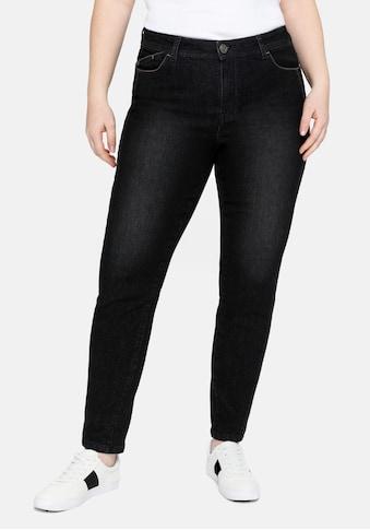 Sheego Stretch-Jeans, mit vorverlegter Teilungsnaht kaufen
