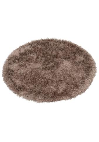 merinos Hochflor-Teppich »Glossy 411«, rund, 70 mm Höhe, Besonders weich durch Microfaser, Wohnzimmer kaufen