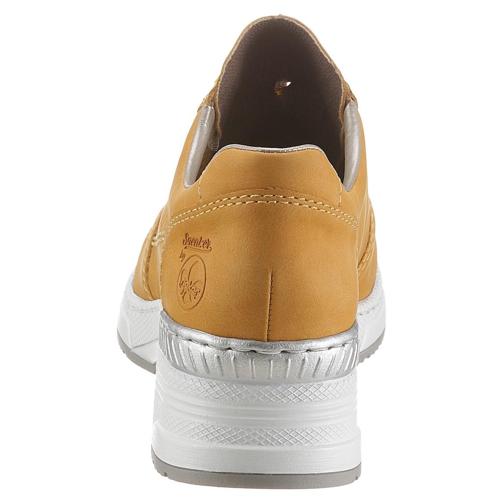 Rieker Wedgesneaker, mit herausnehmbarer Ledereinlage