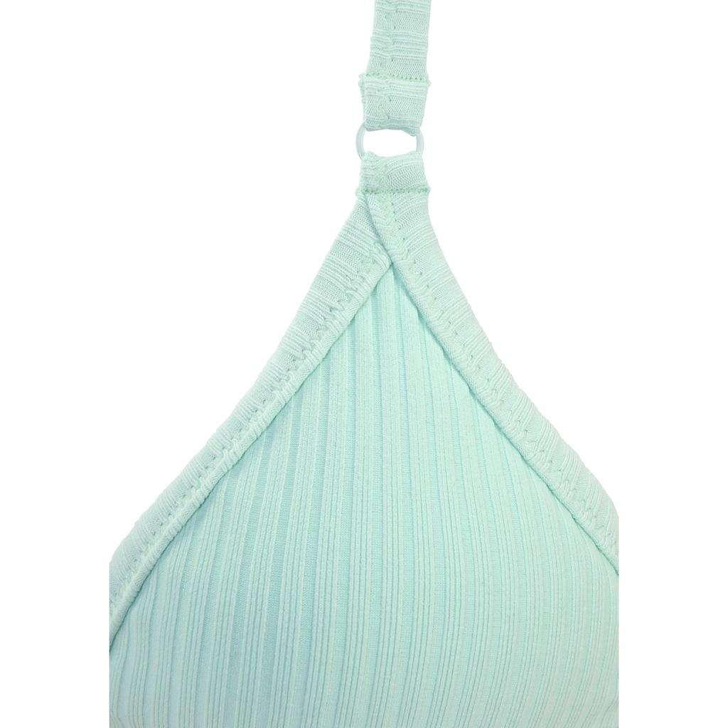LASCANA Triangel-Bikini-Top »Rippe«, in trendigem Look