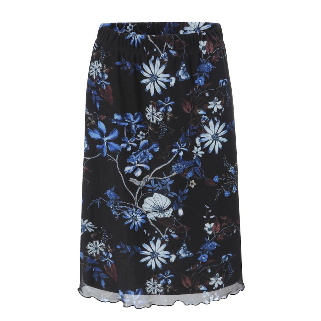 Aniston SELECTED Meshrock, im modischen Blumendruck