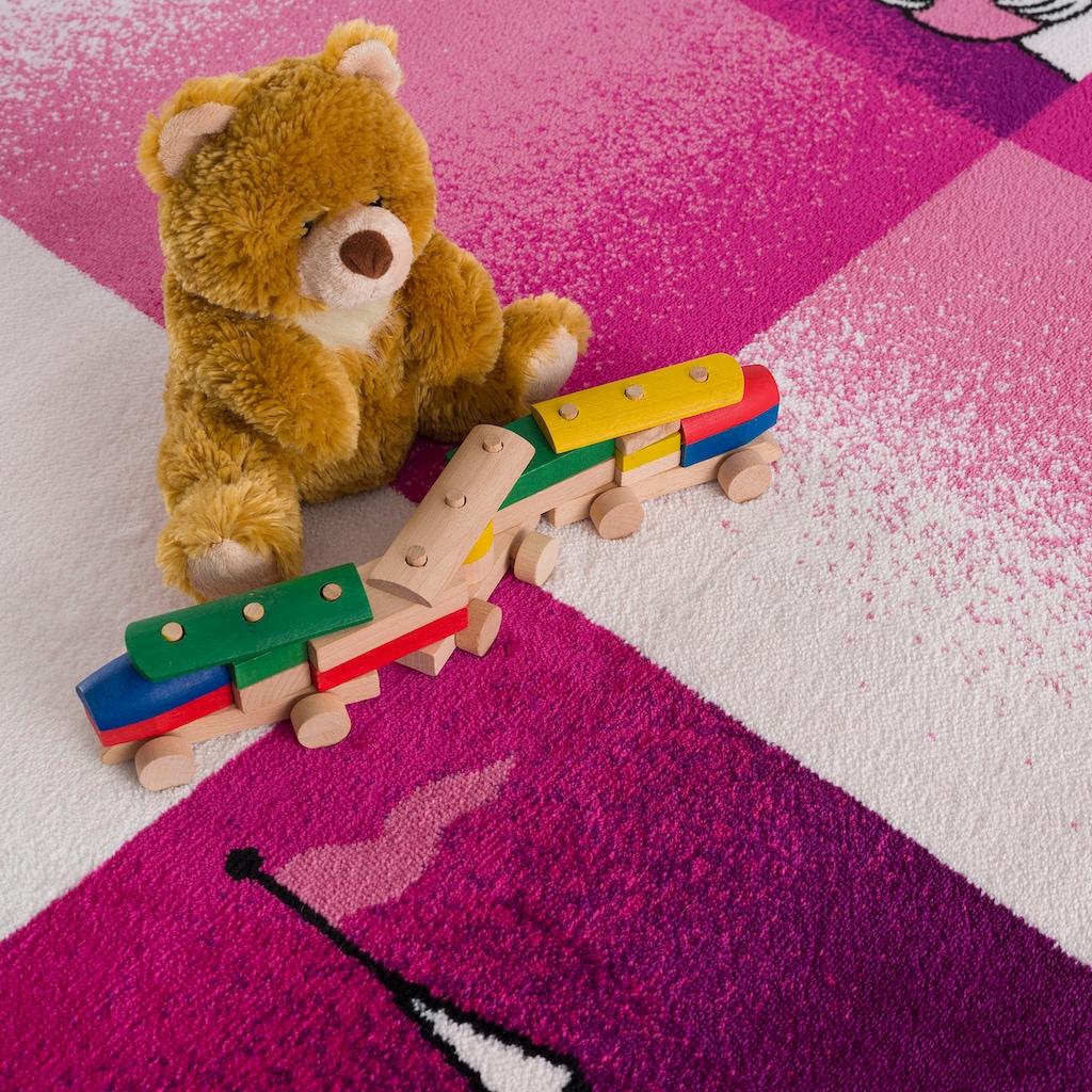 Sanat Kinderteppich »Bambino 2101«, rechteckig, 11 mm Höhe, Prinzessin Schloss Motiv