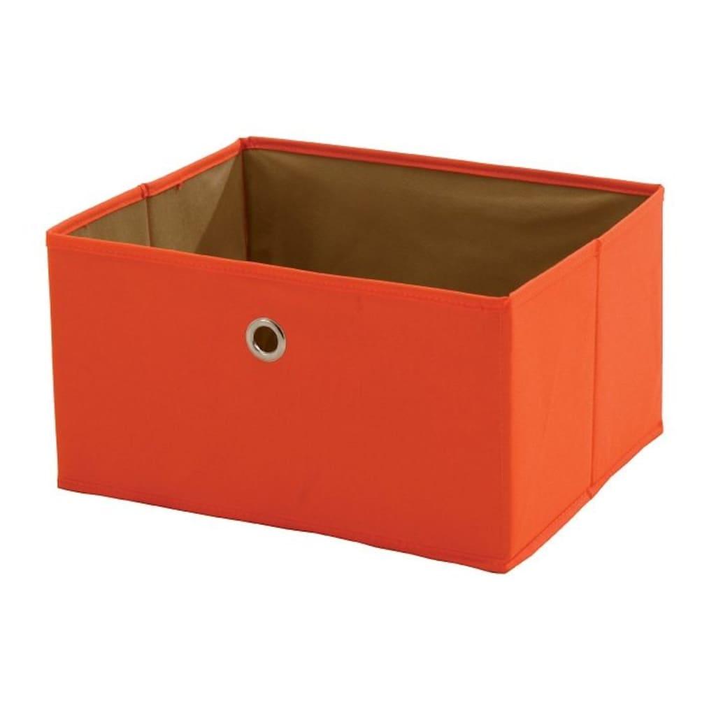 roba® Aufbewahrungsbox »Canvas-Boxen, orange«, (Set, 2 St.)