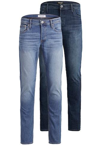 Jack & Jones Slim-fit-Jeans »GLENN ORIGINAL«, (Packung, 2 tlg., 2er-Pack), 2er Packung kaufen