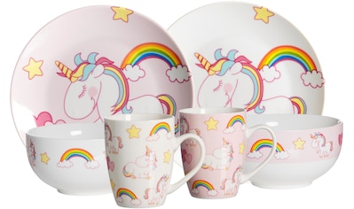 Ritzenhoff & Breker Kindergeschirr-Set »Unicorn«, (6 tlg.) kaufen
