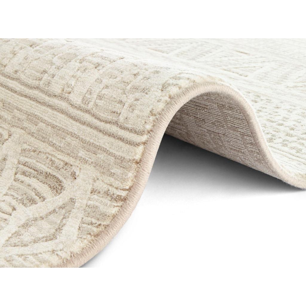 ELLE DECORATION Teppich »Roanne«, rechteckig, 11 mm Höhe, dichter Kurzflor, Boho- Ethno-Look, Wohnzimmer