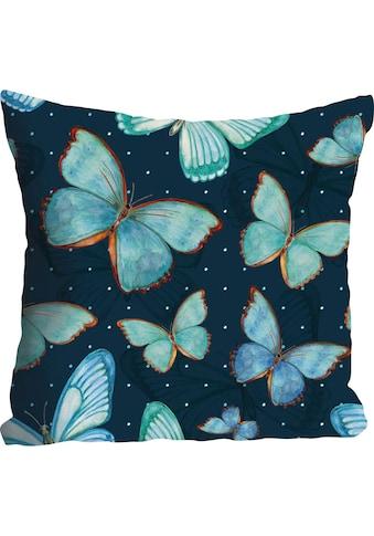 queence Kissenhülle »Lennart«, (1 St.), mit Schmetterlingen kaufen