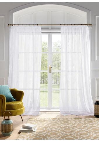 Guido Maria Kretschmer Home&Living Gardine »Mila«, transparent, Wellenmuster, Voile,... kaufen