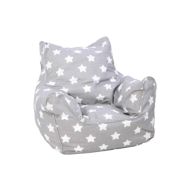Sitzsack Grau mit weissen Sternen, KNORRTOYS.COM®