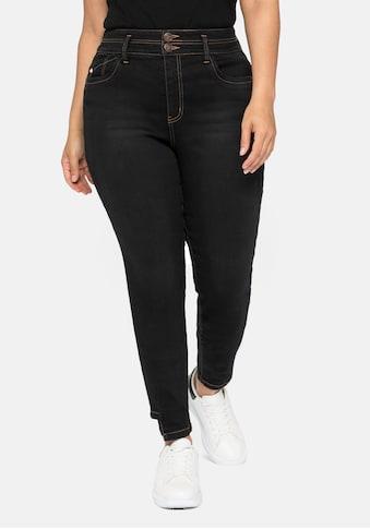 Sheego Stretch-Jeans, mit Bodyforming-Effekt und High-Waist-Bund kaufen