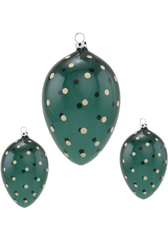 Thüringer Glasdesign Osterei »Punkte«, mundgeblasen, handdekoriert kaufen