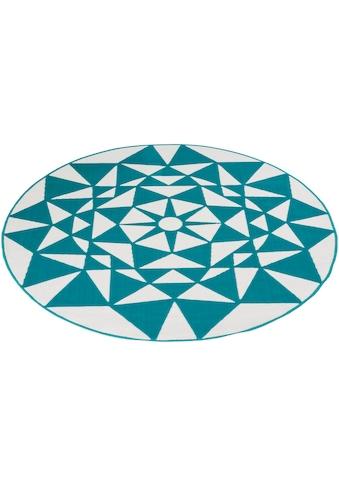 my home Teppich »Franka«, rund, 10 mm Höhe, Wohnzimmer kaufen