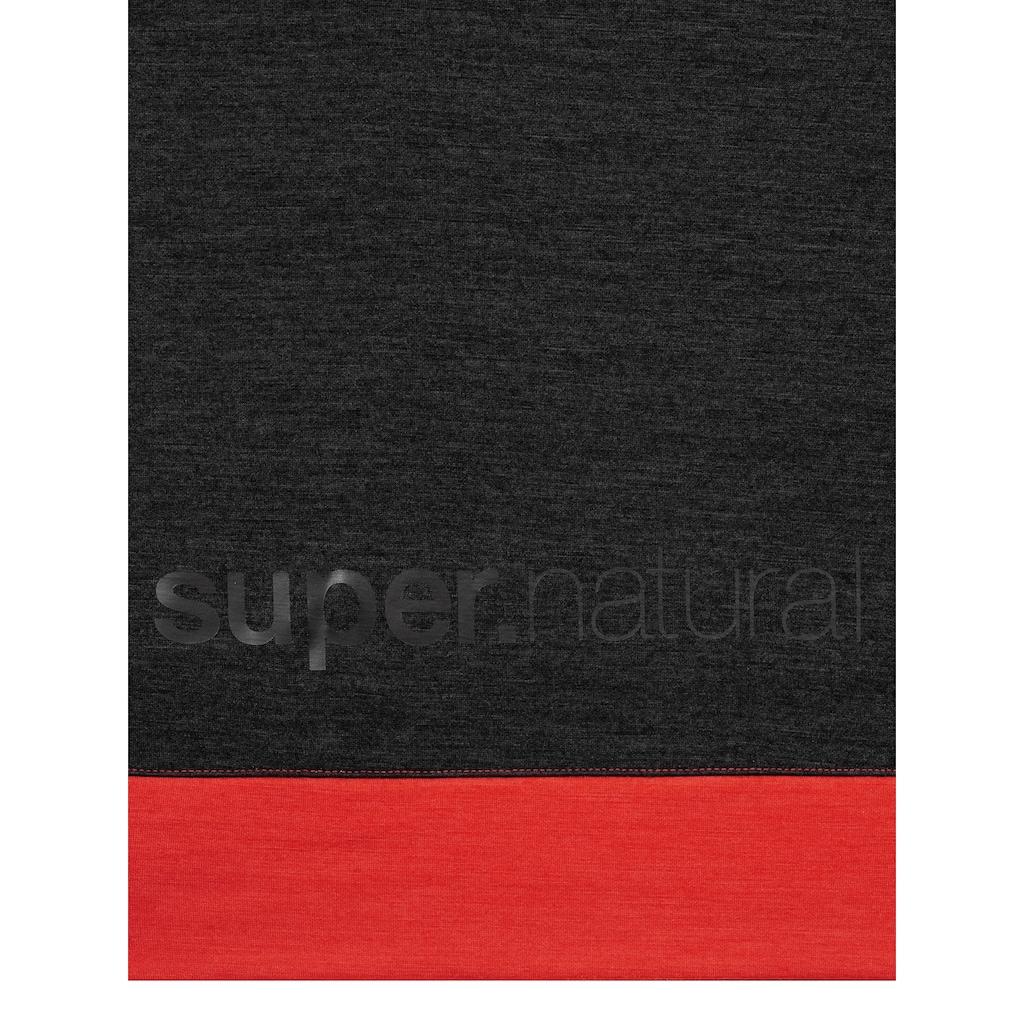 SUPER.NATURAL Hoodie »M MOVEMENT HALF ZIP«, perfekter Merino-Materialmix