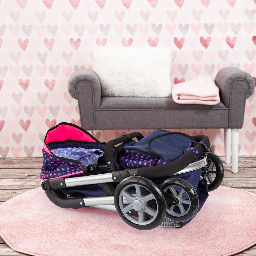 Bayer Kombi-Puppenwagen »City Neo, Blau/Pink«