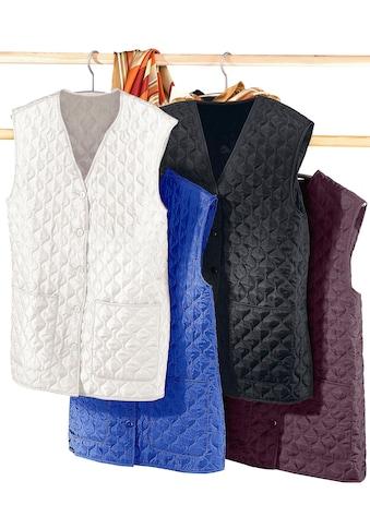 Classic Basics Steppweste mit farblich abgestimmten Knöpfen kaufen