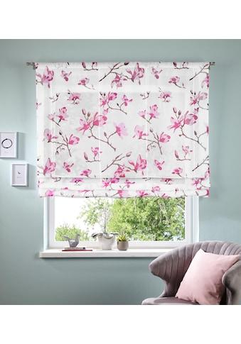 my home Bändchenrollo »Orchidee«, mit Stangendurchzug kaufen