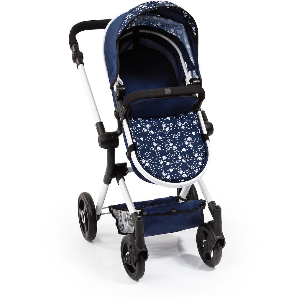 Bayer Kombi-Puppenwagen »Vario, Blau/Weiss«, inkl. Wickeltasche