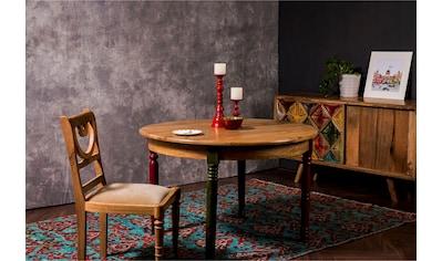 Home affaire Esstisch »Fiore«, mit runder Tischplatte und vier verschieden farbigen Tischbeinen, Breite 120 cm kaufen