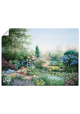 Artland Wandbild »Brücke der Liebe«, Garten, (1 St.), in vielen Grössen & Produktarten -Leinwandbild, Poster, Wandaufkleber / Wandtattoo auch für Badezimmer geeignet kaufen