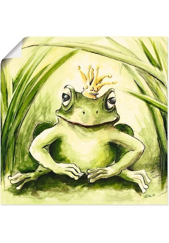 Artland Wandbild »Kleiner Frosch«, Geschichten & Märchen, (1 St.), in vielen Grössen & Produktarten - Alubild / Outdoorbild für den Aussenbereich, Leinwandbild, Poster, Wandaufkleber / Wandtattoo auch für Badezimmer geeignet kaufen