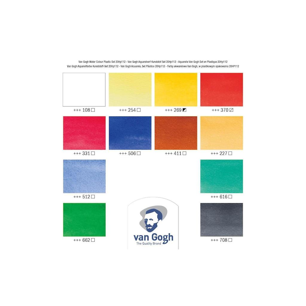 Aquarellfarbe »Malkasten 12er-Set, Mehrfarbig«