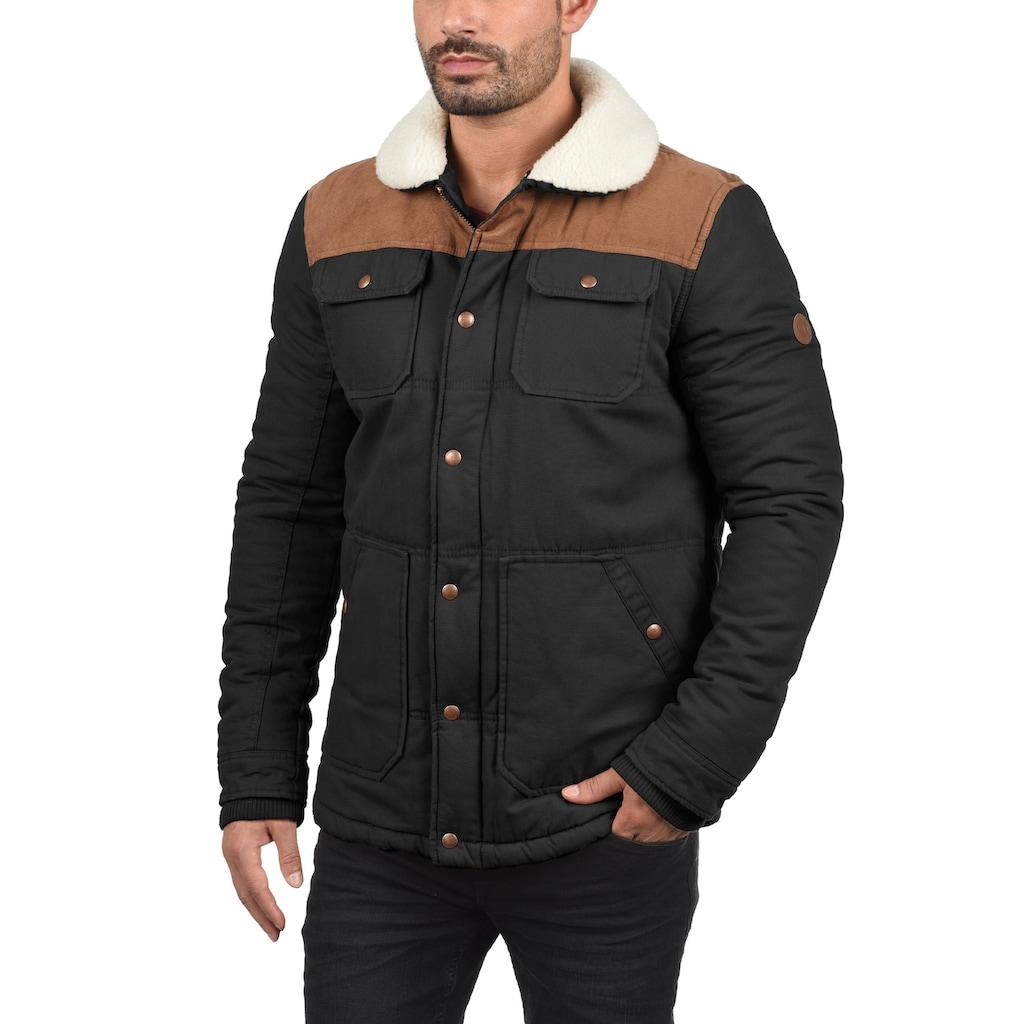 Solid Winterjacke »Ferdinand«, warme Jacke mit Kragen mit Teddyfutter