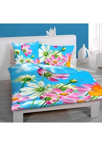 HOME FASHION Bettbezug »Blume, Renforcé«, (1 St.), floraler Digitaldruck kaufen