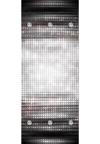 queence Garderobenpaneel »Abstrakte Vierecke«, mit 6 Haken, 50 x 120 cm kaufen