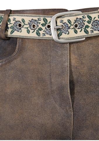 Country Line Trachtenlederhose kurz Damen mit trendigen Galonstreifen kaufen
