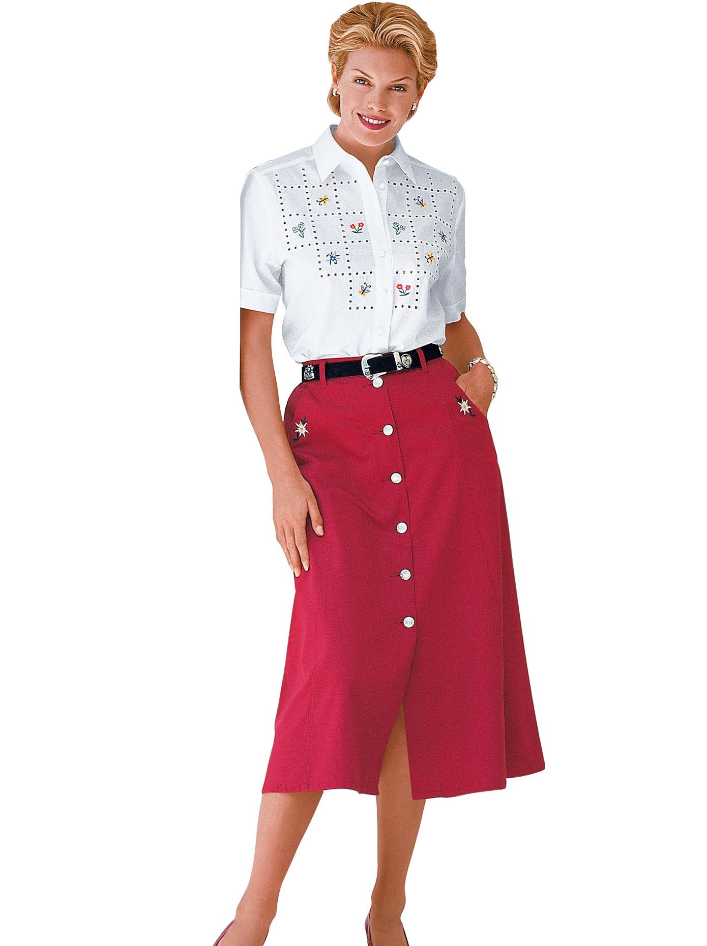 Classic Bluse mit Seitenschlitze