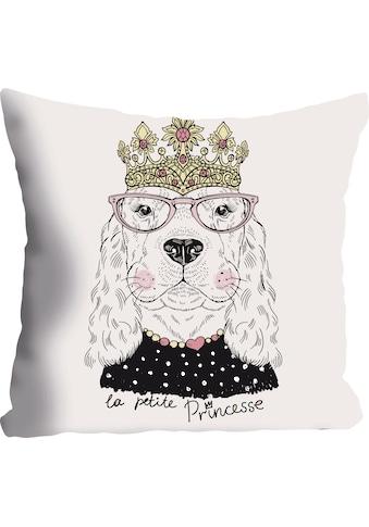 """Kissenhülle """"»Hund«"""" queence kaufen"""