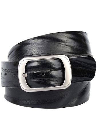 Anthoni Crown Ledergürtel, Jeansgürtel genarbt kaufen