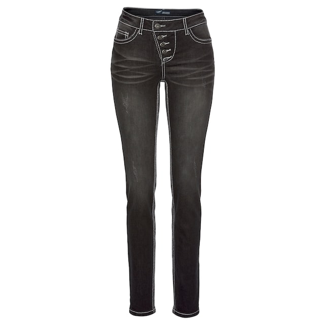 Arizona Slim-fit-Jeans »Heavy Washed - Shaping«