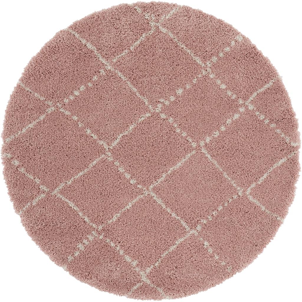 MINT RUGS Hochflor-Teppich »Hash«, rund, 35 mm Höhe, Scandi Look, Wohnzimmer