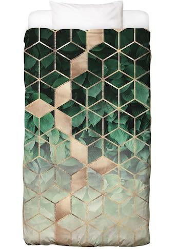 Bettwäsche »Leaves & Cubes«, Juniqe kaufen