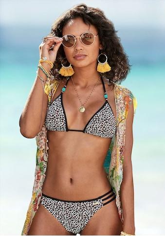 Bruno Banani Triangel-Bikini, mit Zierperlen kaufen