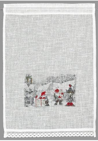 Scheibengardine, »Wichtel«, HOSSNER  -  ART OF HOME DECO, Stangendurchzug 1 Stück kaufen