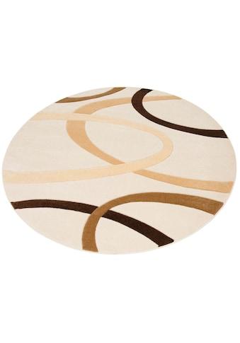 my home Teppich »Bill«, rund, 10 mm Höhe, mit Handgearbeiteten Konturenschnitt,... kaufen