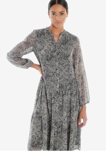 Le Temps Des Cerises Blusenkleid »RIZIA«, im grafischen Allover-Design kaufen