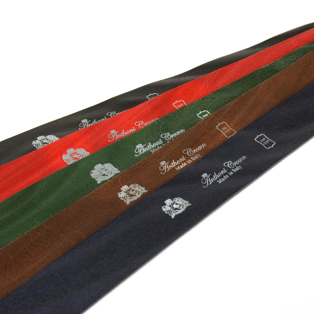 Anthoni Crown Ledergürtel, pflanzlich gegerbtes Leder