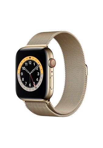 Apple Smartwatch »Serie 6, GPS Cellular, 44 mm Edelstahl-Gehäuse mit... kaufen