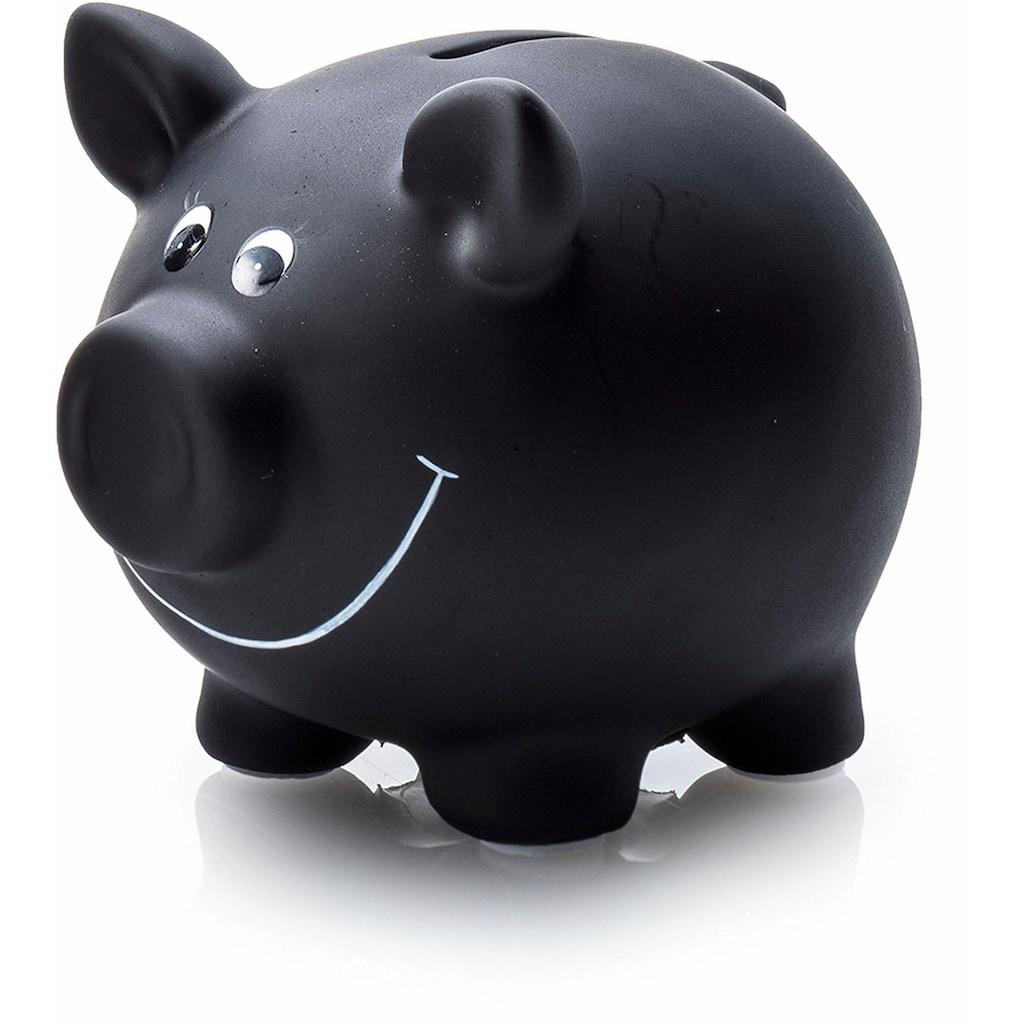 pajoma Spardose »Schwein«, Sparschein, aus Keramik, zum Beschriften, inkl. Kreide