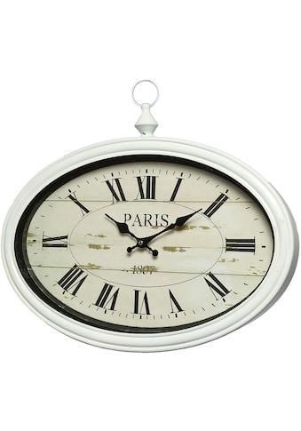 Ambiente Haus Wanduhr »Paris Wanduhr - weiss 34x50cm« kaufen