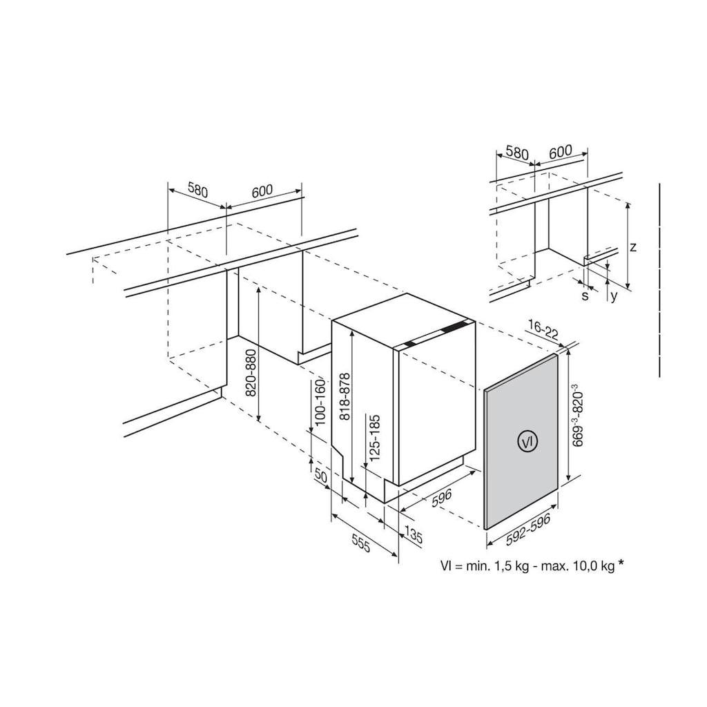 Elektrolux vollintegrierbarer Geschirrspüler »GA60LV A+++«, GA60LV A+++